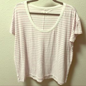 Lou & Grey Pale Pink and White Striped T-shirt